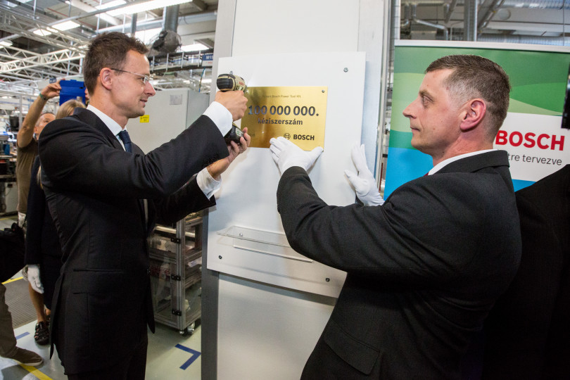 Hundred million power tools from the Bosch plant in Miskolc