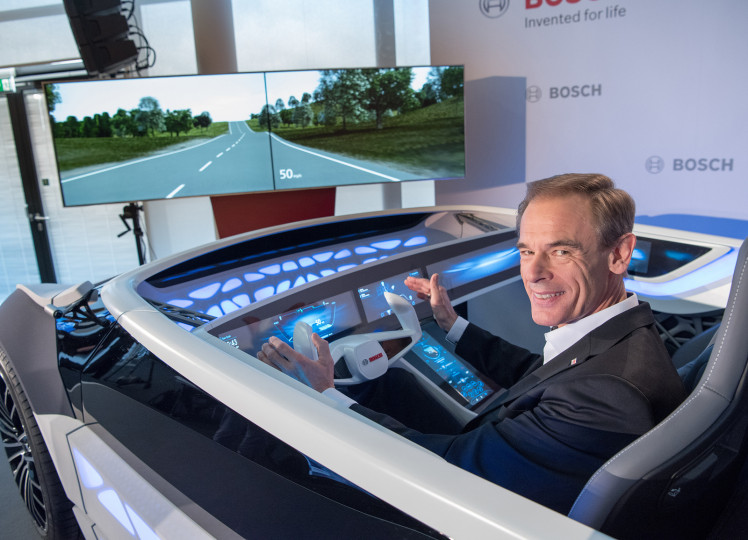 "Dr. Volkmar Denner, chairman of the board of management of Robert Bosch GmbH: ""The car as we know it will soon be history."""